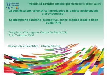 Congresso Nazionale  FIMMG  –  ATTI del  Corso sulla Certificazione telematica introduttiva
